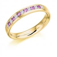 Pink Sapphire Ring - (PSAHET917) - All Metals