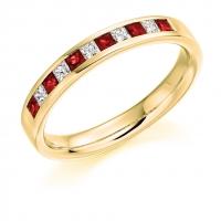 Ruby Ring - (RUBHET929) - All Metals