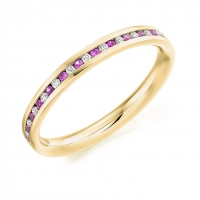 Pink Sapphire Ring - (PSAHET935) - All Metals