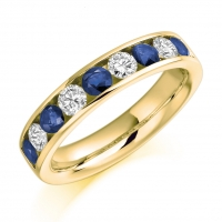Blue Sapphire Ring - (BSAHET940) - All Metals