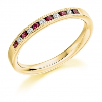 Ruby Ring - (RUBHET981) - All Metals