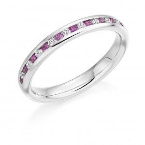 Pink Sapphire Ring - (PSAHET936) - All Metals