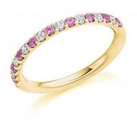 Pink Sapphire Ring - (PSAHET1023) - All Metals