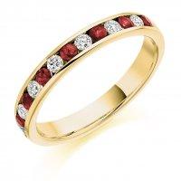 Ruby Ring - (RUBHET1310) - All Metals