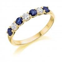 Blue Sapphire Ring - (BSAHET1493) - All Metals