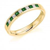 Emerald Ring - (EMDHET929) - All Metals
