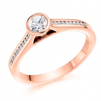 Engagement Ring with Shoulder Stones  - (TBCENG5092) - Certificated