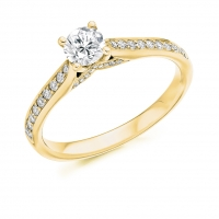 Engagement Ring with Shoulder Stones  - (TBCENG3951) - Certificated
