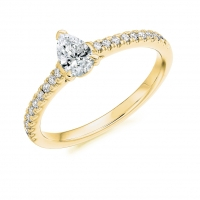 Engagement Ring with Shoulder Stones  - (TBCENG4428) - Certificated