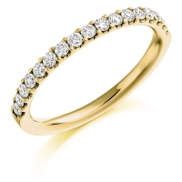 Diamond Wedding Ring  - (TBCDWR1023) A Half Claw Set - All Metals