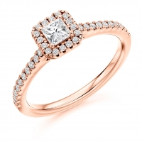 Halo Engagement Ring - (TBCENG4037) - GIA Certificated
