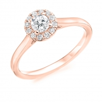 Halo Engagement Ring - (TBCENG4241) - GIA Certificated
