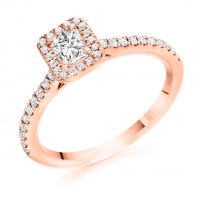 Halo Engagement Ring - (TBCENG4477) - GIA Certificated