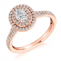 Halo Engagement Ring - (TBCENG4542) - GIA Certificated