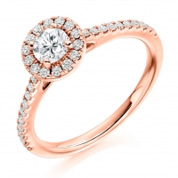 Halo Engagement Ring - (TBCENG4812) - GIA Certificated