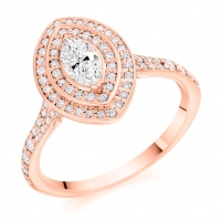 Halo Engagement Ring - (TBCENG5653) - GIA Certificated