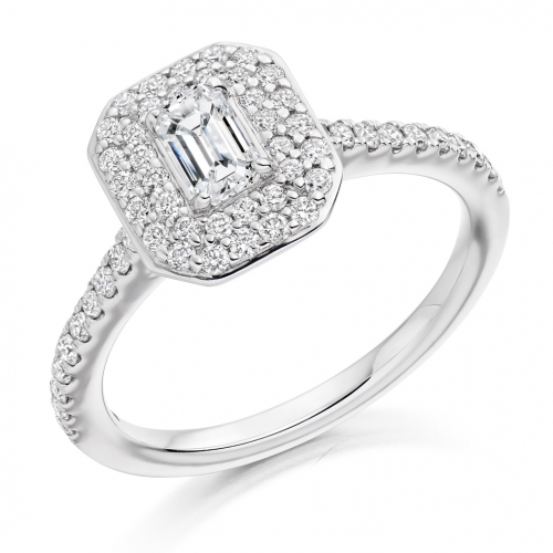 Halo Engagement Ring - (TBCENG3988) - GIA Certificated