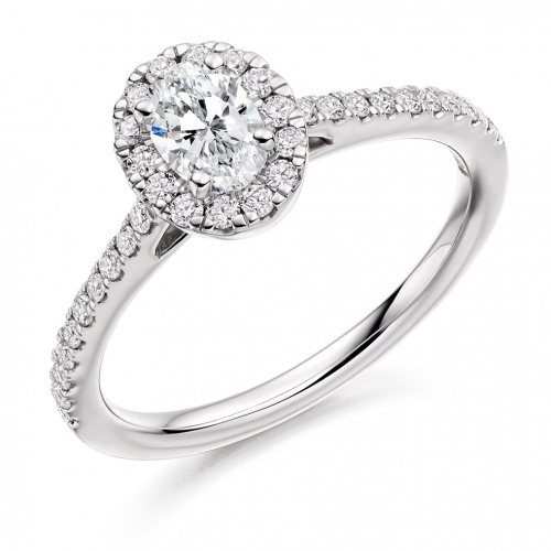 Halo Engagement Ring - (TBCENG4013) - GIA Certificated