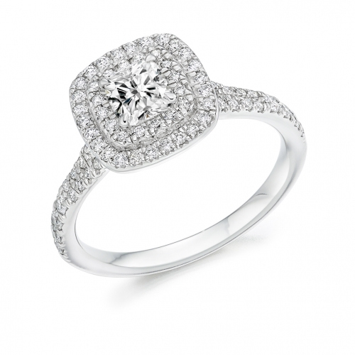 Halo Engagement Ring - (TBCENG4353) - GIA Certificated