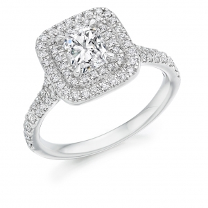 Halo Engagement Ring - (TBCENG4454) - GIA Certificated