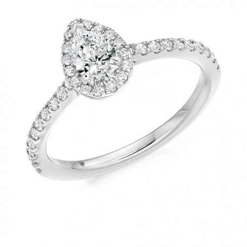 Halo Engagement Ring - (TBCENG4484) - GIA Certificated