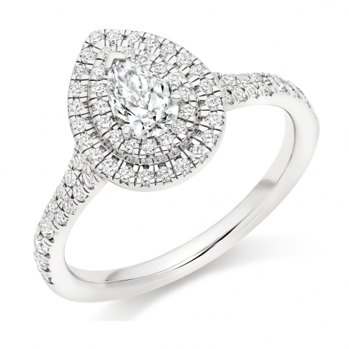 Halo Engagement Ring - (TBCENG4536) - GIA Certificated