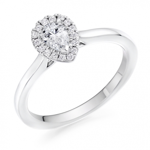 Halo Engagement Ring - (TBCENG4952) - GIA Certificated