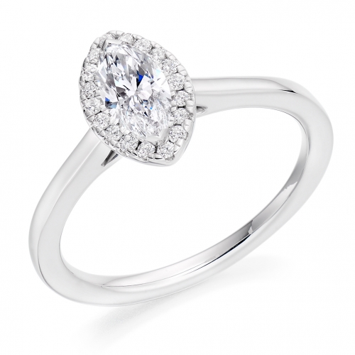 Halo Engagement Ring - (TBCENG4958) - GIA Certificated