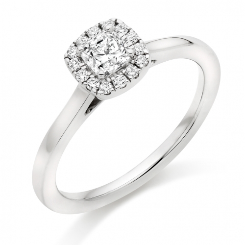 Halo Engagement Ring - (TBCENG6177) - GIA Certificated