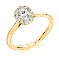 Halo Engagement Ring - (TBCENG4019) - GIA Certificated