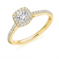 Halo Engagement Ring - (TBCENG4049) - GIA Certificated