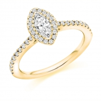 Halo Engagement Ring - (TBCENG4055) - GIA Certificated