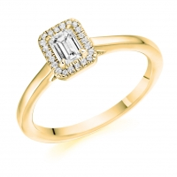 Halo Engagement Ring - (TBCENG4508) - GIA Certificated