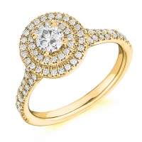 Halo Engagement Ring - (TBCENG4530) - GIA Certificated
