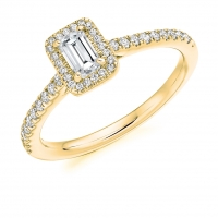 Halo Engagement Ring - (TBCENG4805) - GIA Certificated