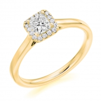 Halo Engagement Ring - (TBCENG4981) - GIA Certificated