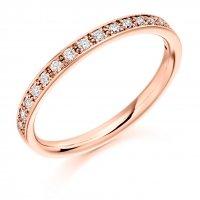 Diamond Wedding Ring   - (TBCDWR1792) - Half Grain Set - All Metals