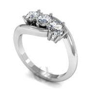 Engagement Ring Trilogy (TBC257) - All Metals