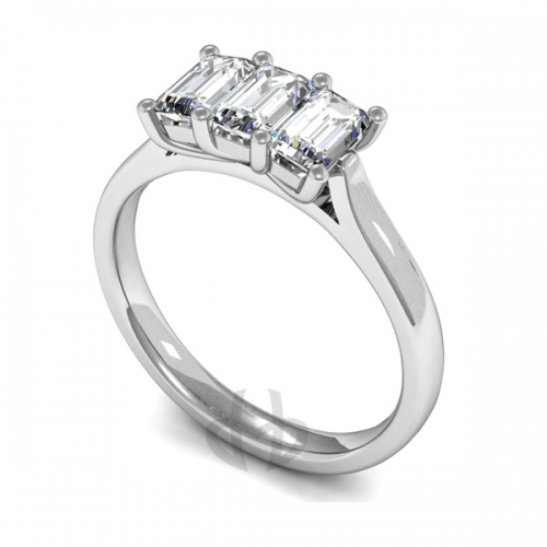 Palladium Diamond Engagement Ring Trilogy