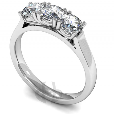 18ct Gold Diamond Engagement Ring Trilogy