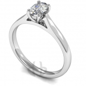 9 carat White Gold Diamond Engagement Ring