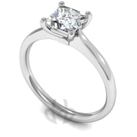 18ct White Gold Diamond Engagement Ring Princess Solitaire