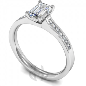 Engagement Ring with Shoulder Stones (TBC718) - GIA Certificate