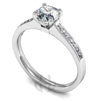 Engagement Ring with Shoulder Stones (TBC724) - GIA Certificate