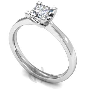 18ct White Gold Princess Diamond Engagement Ring Princess