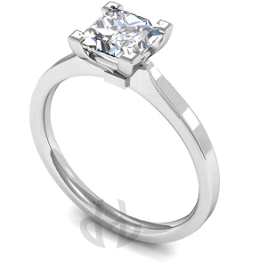 18ct White Gold Princess Diamond Engagement Ring