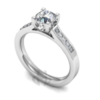 Engagement Ring with Shoulder Stones (TBC807) - GIA Certificate