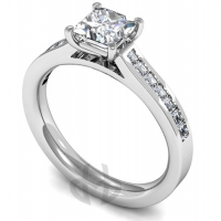 Engagement Ring with Shoulder Stones (TBC842) - GIA Certificate