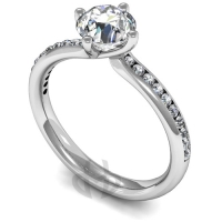 Engagement Ring with Shoulder Stones (TBC857) - GIA Certificate