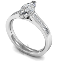 Engagement Ring with Shoulder Stones (TBC864) - GIA Certificate